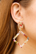 Load image into Gallery viewer, Speckled Diamond Dangles - Simply L Boutique
