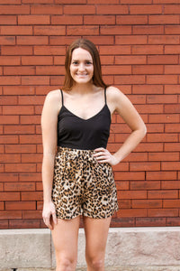 Black Leopard Romper - Simply L Boutique