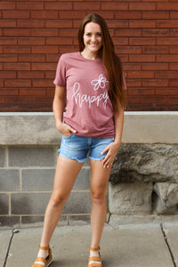 Happy Graphic Tee - Simply L Boutique