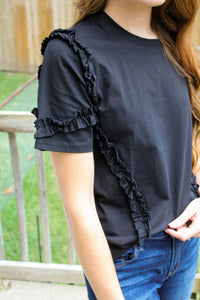Not Your Average Black Tee - Simply L Boutique