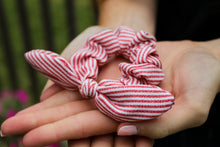 Load image into Gallery viewer, Red Striped Scrunchie