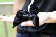 Load image into Gallery viewer, Black Velvet Scrunchie