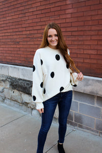Oversized Polka Dot Sweater