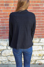 Load image into Gallery viewer, Draped Front Everyday Cardigan- Black