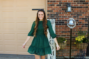 Emerald Smocked Dress