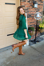 Load image into Gallery viewer, Emerald Smocked Dress