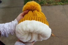 Load image into Gallery viewer, Mustard Pom Pom Beanie