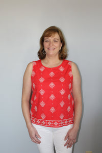 Coral Embroidered Tank - Simply L Boutique