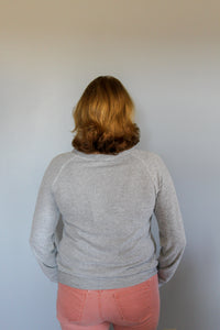 Cozy Light Heather Grey Sweater - Simply L Boutique