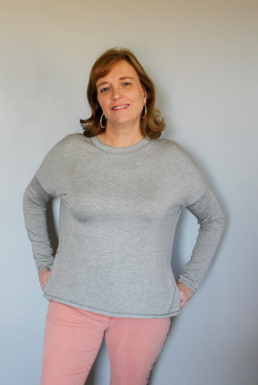 Everyday Favorite Grey Top - Simply L Boutique