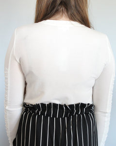 Ruched Sleeve Top - Simply L Boutique