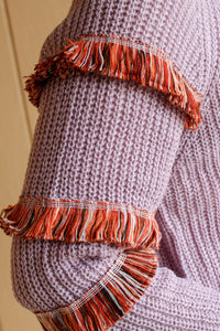 Fringe Detail Sweater - Simply L Boutique