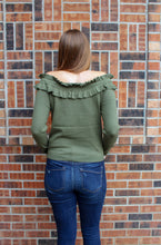 Load image into Gallery viewer, Olive Off The Shoulder Sweater - Simply L Boutique
