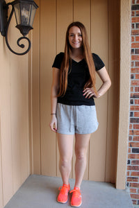 Cozy Light Heather Grey Shorts - Simply L Boutique