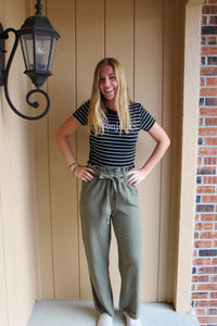 Olive Tie Pant - Simply L Boutique