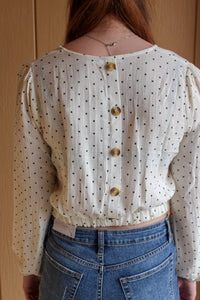 Dotted Crop Top - Simply L Boutique