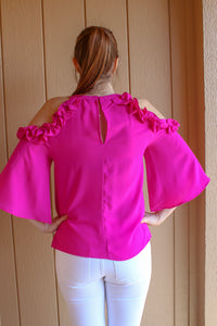 Fuchsia Off the Shoulder Top - Simply L Boutique