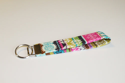 Multi Pattern Colorful Key Wristlet - Simply L Boutique