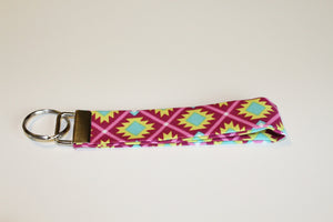 Purple Aztec Key Wristlet - Simply L Boutique