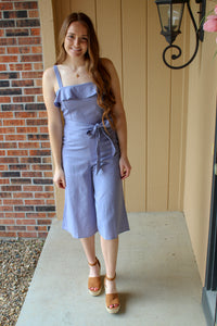 Ruffled Edge Jumpsuit - Simply L Boutique