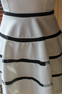 Black Striped Mesh Dress - Simply L Boutique