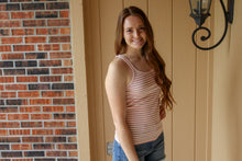 Load image into Gallery viewer, Blush Striped Tank - Simply L Boutique