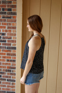 Spotted Black Tank - Simply L Boutique