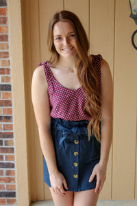 Dotted Berry Tank - Simply L Boutique