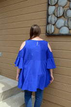 Load image into Gallery viewer, Cobalt Off the Shoulder Top (Plus) - Simply L Boutique