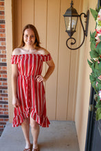Load image into Gallery viewer, Striped Off the Shoulder Dress - Simply L Boutique