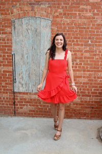 Poppy Red Summer Dress - Simply L Boutique