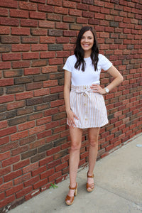 Paper Bag Button-Down Skirt - Simply L Boutique