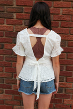 Load image into Gallery viewer, Eyelet Peplum Top - Simply L Boutique