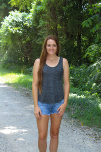 Cozy Heather Charcoal Tank - Simply L Boutique