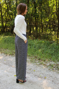 Smocked Waist Speckled Pants - Simply L Boutique