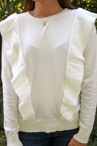 Ruffle All Around Sweater - Simply L Boutique
