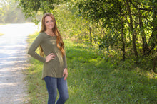 Load image into Gallery viewer, Olive Long Sleeve Tee - Simply L Boutique
