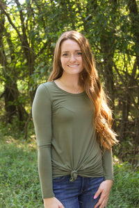 Olive Long Sleeve Tee - Simply L Boutique