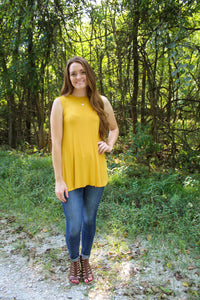 Mustard Ribbed Tank - Simply L Boutique