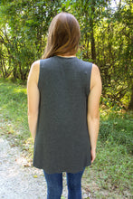 Load image into Gallery viewer, Charcoal Ribbed Tank - Simply L Boutique