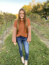 Load image into Gallery viewer, Striped Sleeve Sweater - Simply L Boutique