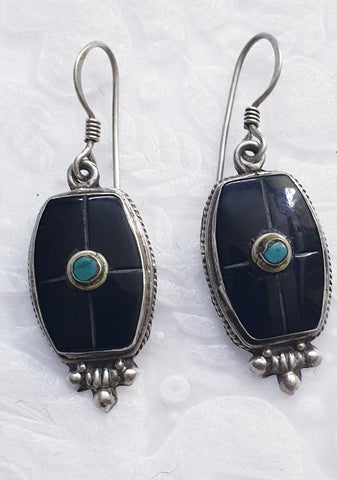 Antique Black Earrings
