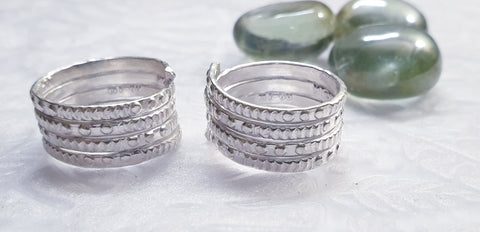 Layered Silver Toe ring