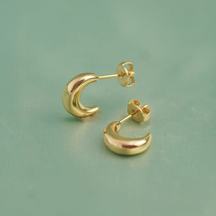 Minimalist Crescent Earrings