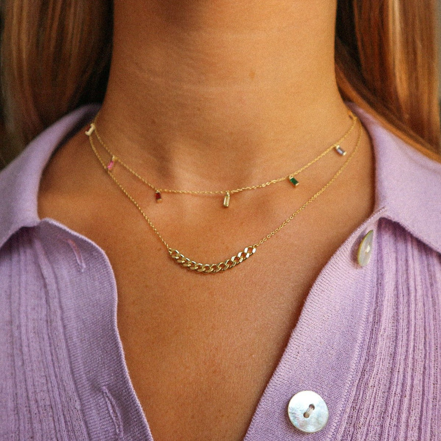 Curb Detail Chain Necklace