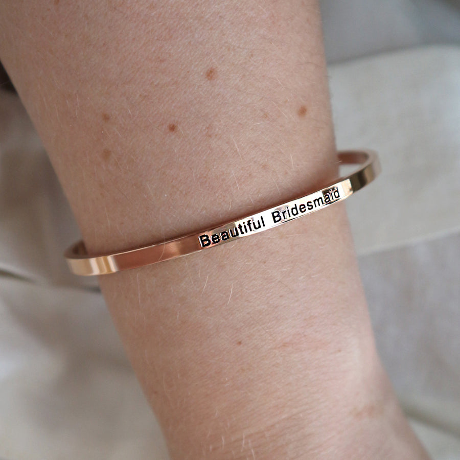 'Beautiful Bridesmaid' Bangle Thank You Gift