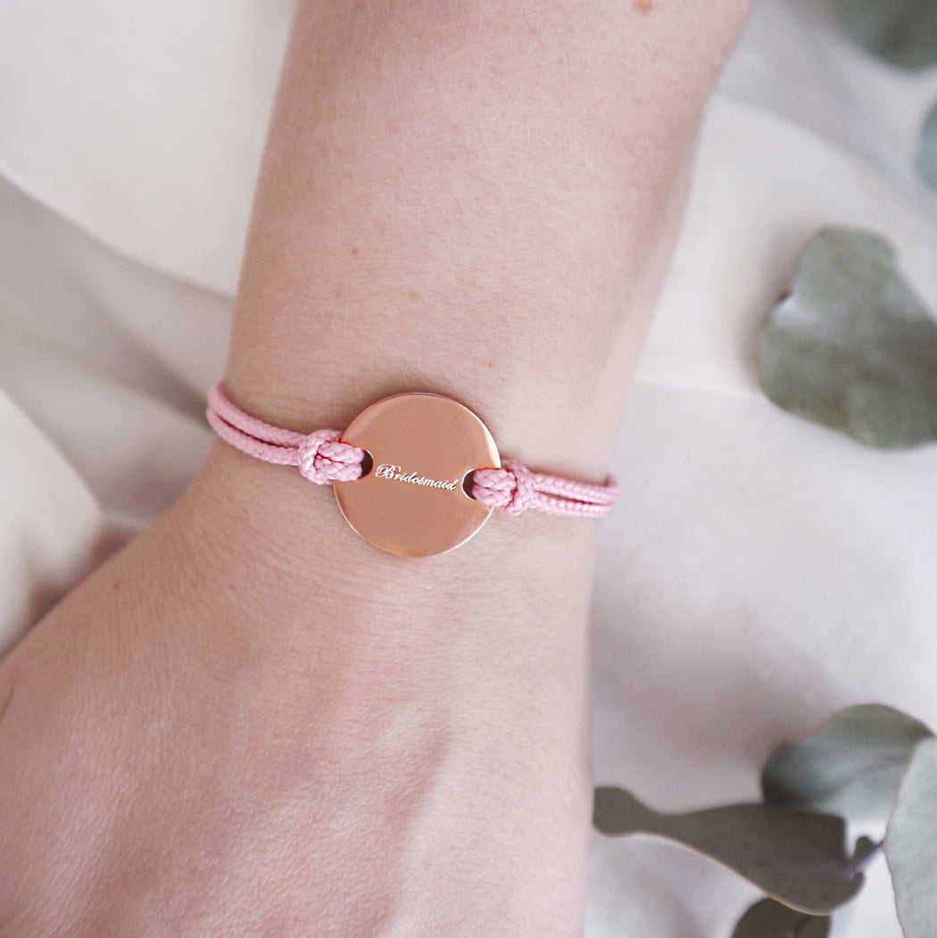 'Bridesmaid' Engraved Friendship Bracelet Thank You Gift