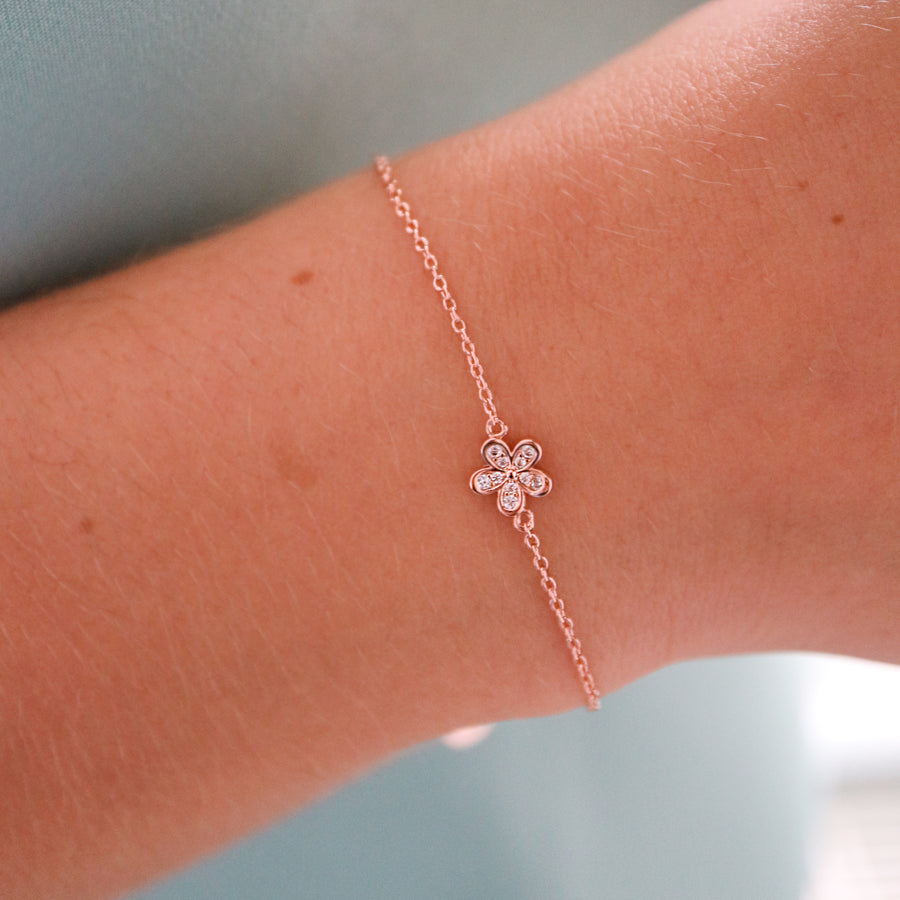 Maid of Honour Flower Bracelet Thank You Gift