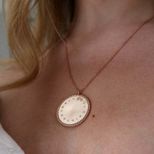 'Be True To Yourself 'Engraved Coin Necklace