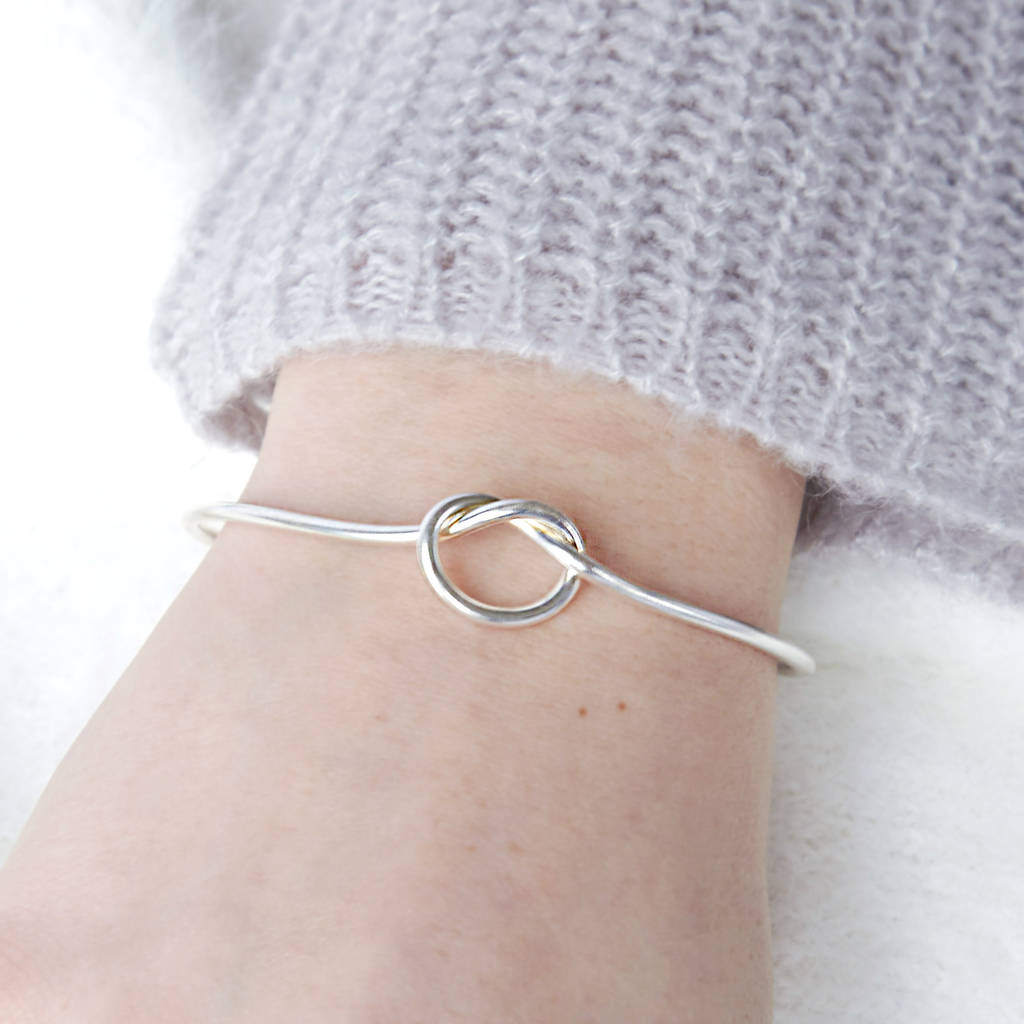 Infinity Knot Bangle Bridesmaid Gift
